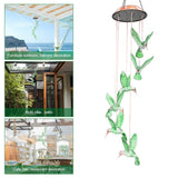 Outdoor Solar Mobile Wind Chime LED Changing Light Solar Lamps Waterproof Six Wind Chimes Home Party Garden Night Decor