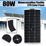 18V 80W Semi-Flexible Solar Panel Solar Charger For 12V Car Battery ETFE Monocrystalline Cells For Hause,boat,roof