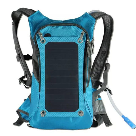 KUNDUI High quality 5V Solar Panel Battery Charging Business Travel Backpacks Tourism Bags USB Output Charger Backpack Bag