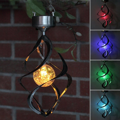 LED Solar Power Hanging Lights Outdoor Garden Solar Lamp Waterproof Romantic Wind Chimes RGB Christmas Decoration Romantic Light