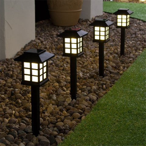 Color-Changing LED Garden Solar Light Outdoor Waterproof Ground Lamp Landscape Lawn Light Solar LED for Garden Decoration Path