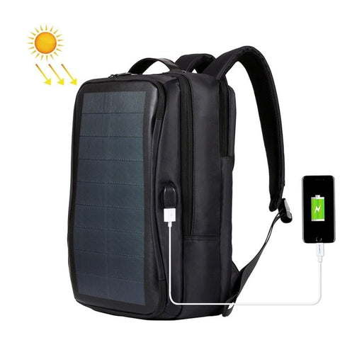 JHD HAWEEL Outdoor Solar Backpack Bags Flexible Solar Panel 14W Power Backpack Laptop Bag+Handle+USB Laptop Tablet Bags