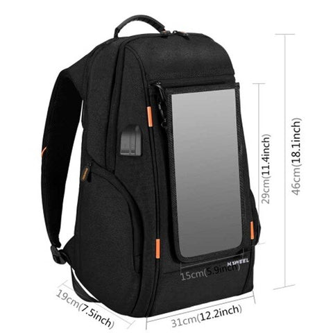 Backpack Solar Bag Laptop Solar Power Backpack Usb Charging Anti-Theft 15.6'' Laptop Backpack panel solar Computer Bags Tourism