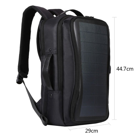 FGGS HAWEEL Outdoor Solar Backpack Bags Flexible Solar Panel 14W Power Backpack Laptop Bag+Handle+USB Laptop Tablet Bags