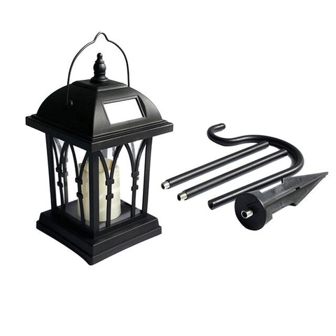 Solar Power Waterproof LED Candle Light Garden Lawn Path Street Hanging Ground Lantern Lamp CLH@8