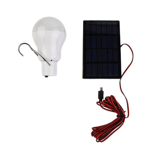 Solar Powered led lamp  Outdoor/Indoor System Lighting 1 Bulb solar panel Low-power camp night travel  150Lumen 0.8w 5V