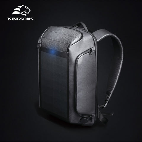Kingsons Beam Backpack Security Men's Travel Solar Panel Backpacks Solar Charging Efficiency Shoulder Bags Anti-theft Backpacks