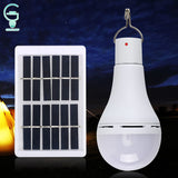 Portable 5 Modes Changeable Solar Bulb 7W 9W Outdoor Solar Panel Light USB Rechargeable Tent Camping Light Bulb