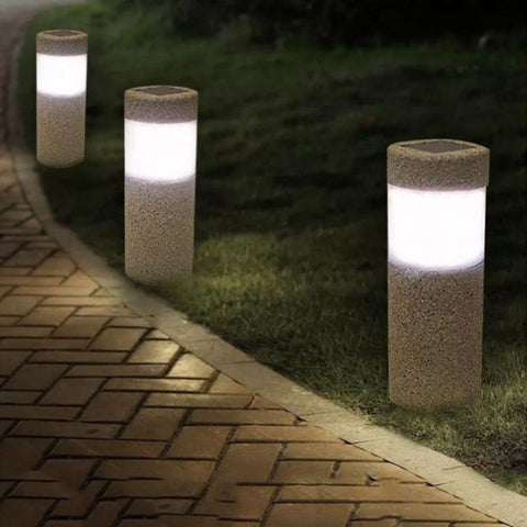 Kaigelin Sand-blasting 3W Solar Lawn Light Outdoor Waterproof LED White Light  Garden Landscape Yard Lawn Path Lamp