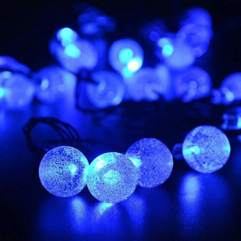 NEW 20/30/50 LED Crystal ball LED Solar Lamp Power LED String Fairy Lights Solar Garlands Garden Christmas Decor For Outdoor