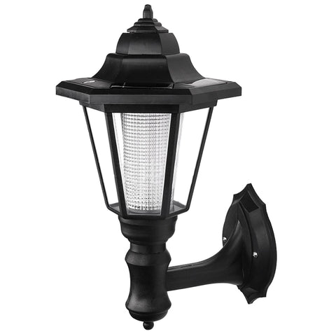 LED solar powered wall lanterns wall light lamp outdoor garden fence door
