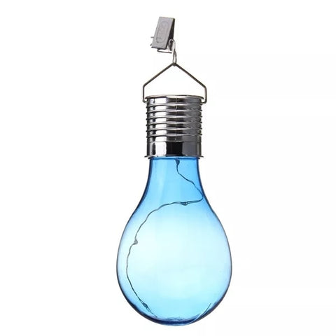 Solar Powered Camping Hanging bulbs Outdoor Waterproof LED Solar Lights Bulb for Garden Yard Decoration