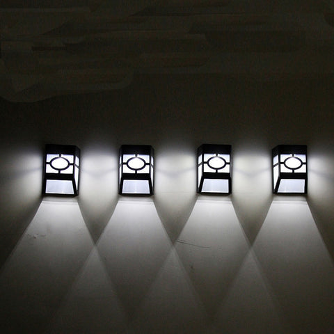 New High Quality Wall Lamp Solar Light 2 LED Outdoor Garden Wall Path Yard Landscape Lighting Cool White Warm White#sw
