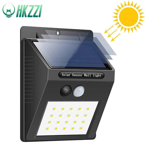 HKZZI 30LEDs Solar Light Bulb PIR Motion Sensor Solar 20LEDs Rechargeable Waterproof Outdoor Garden Lamp Night Wall Way Light