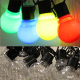 5m 20 Led Solar Festoon Wedding String Light Fairy Light Globe Garland LED String Waterproof Outdoor Garden Ornaments LED lights