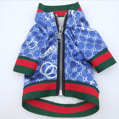 Dog clothes Spring jacket in blue