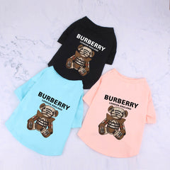 Burberry inspired Ts – doggie clothes done right