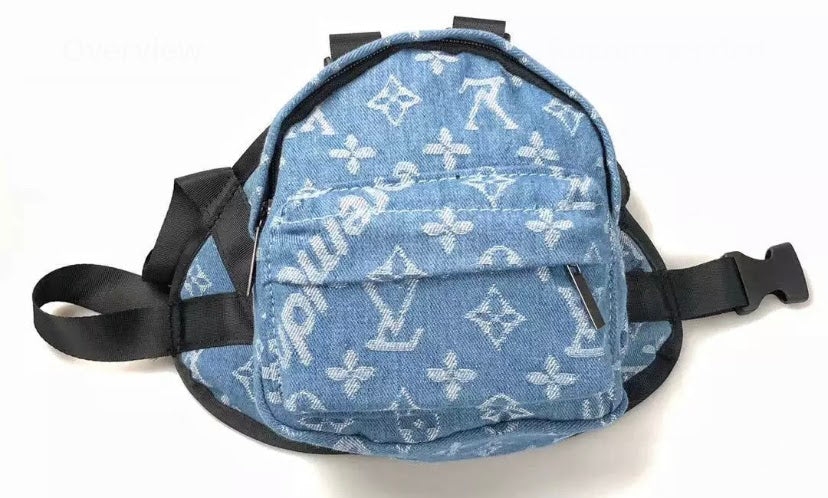 Louis Vuitton inspired doggie backpack