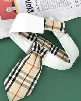 Burberry Inspired Tie for boy dogs
