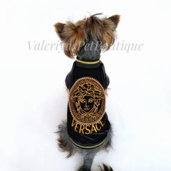 NEW - Handmade Black and Gold Versace Jacket