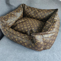 Louis Vuitton inspired dog bed
