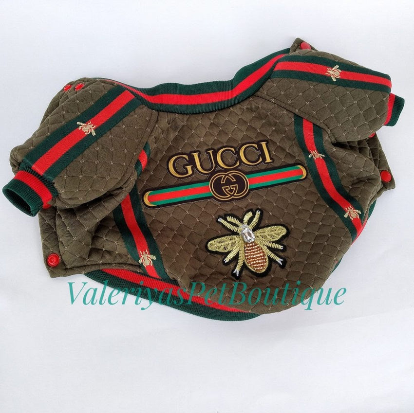 NEW - Handmade olive green and red gucci jacket