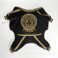 NEW - Handmade Black & Gold Versace inspired Jumpsuit
