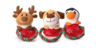 Adorable Christmas rope toys