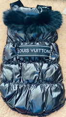 Handmade Black Louis Vuitton Inspired Puffy Coat