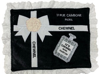 Black with White Chewnel No. 9 Mat