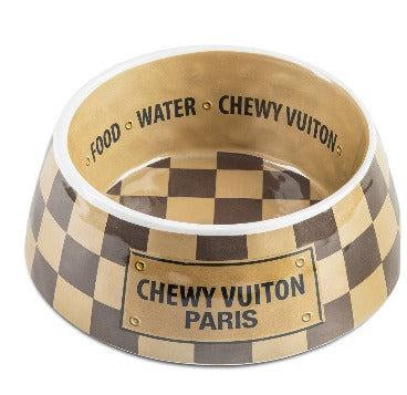 Chewy Vuitton bowls and placement set