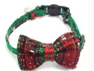 Christmas red and green bowtie
