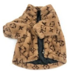 Cozy Louis Vuitton Inspired Pink or Brown Sherpa Winter Coat