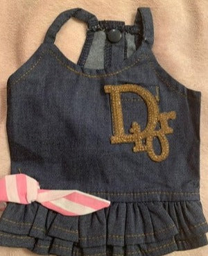 Dior inspired denim dress