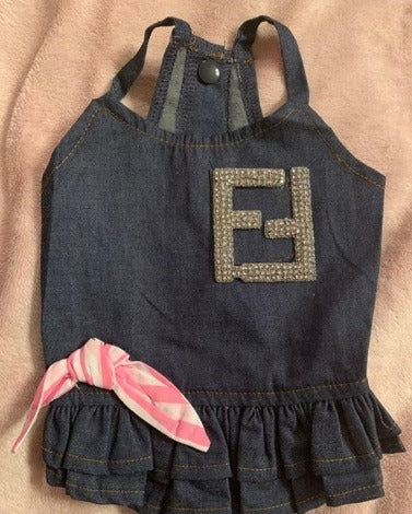 Fendi inspired denim dress