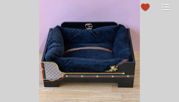 Handmade Gucci Inspired Dog Bed