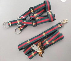 Gucci Inspired Harness and Leash Set