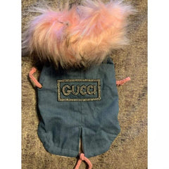Gucci Inspired Rhinestone with faux fur trim jacket