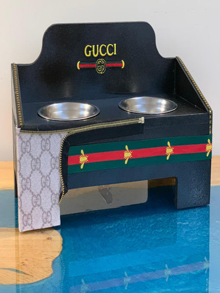 Handmade Gucci Inspired Pet Feeder