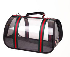 Gucci inspired clear pet carrier