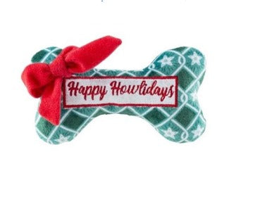 Happy Howlidays Puppermint Mocha Bone Plush Toy!