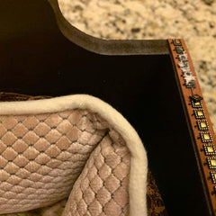 Handmade Louis Vuitton Inspired Faux Leather Dog Bed (Slightly Damaged)