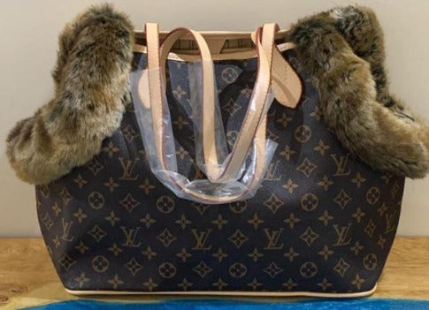 Double sided LV inspired Dog Carrier