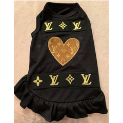 Louis Vuitton Inspired Heart Patch dress