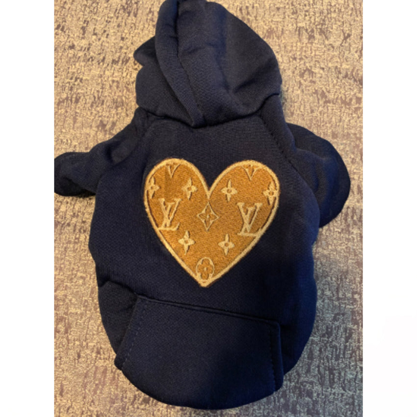 Louis Vuitton Inspired Heart Shaped Hoodie