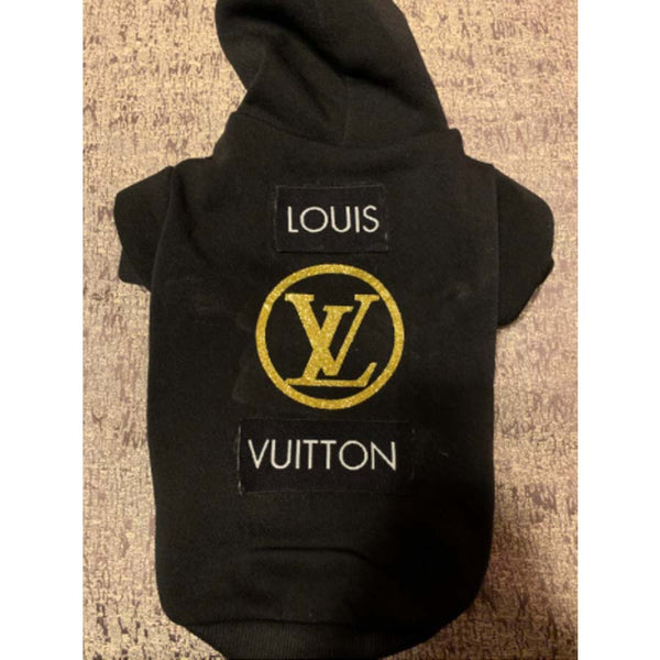 Louis Vuitton Inspired Hoodie with Gold LV