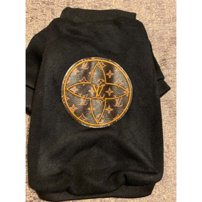 Louis Vuitton Inspired Round patch hoodie in black or orange