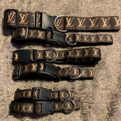 Louis Vuitton inspired dog collar