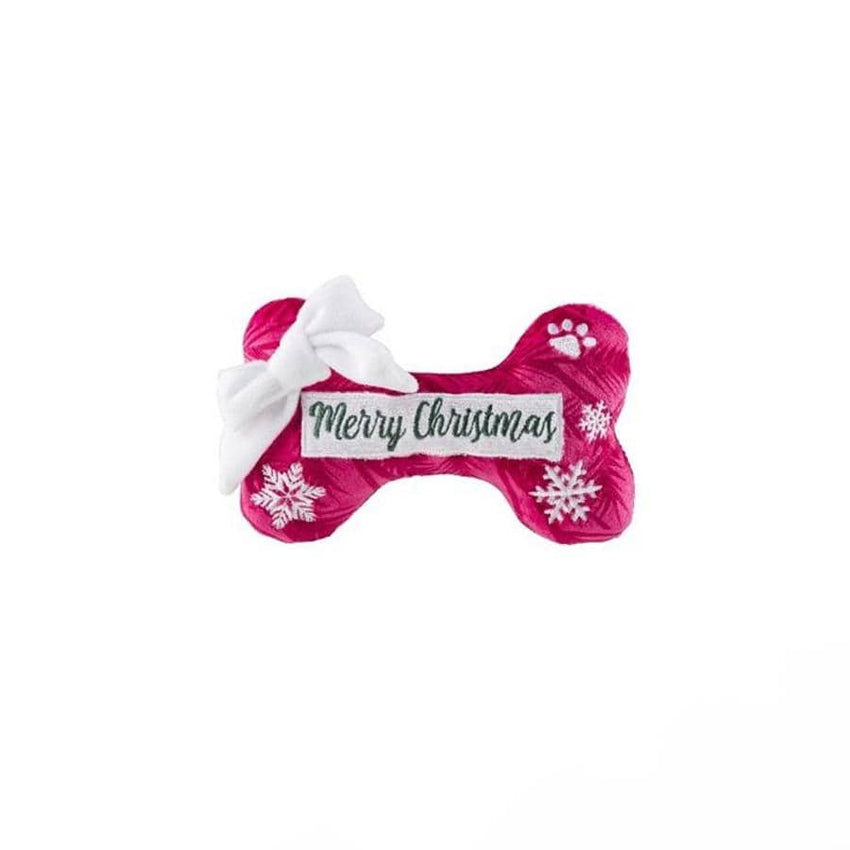Merry Christmas Puppermint Mocha Bone Plush Toy!
