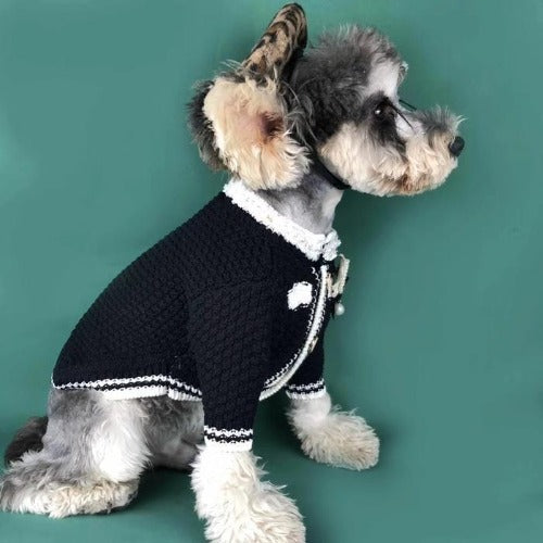 Hand-Made Elegant Chewnel Dog Sweater Jacket